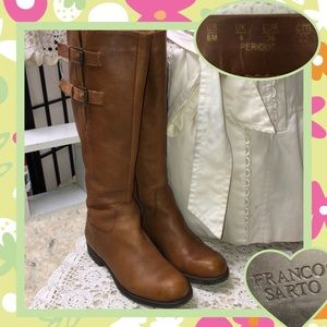 Franco Sarto Brown Leather Boots Size 6M USED